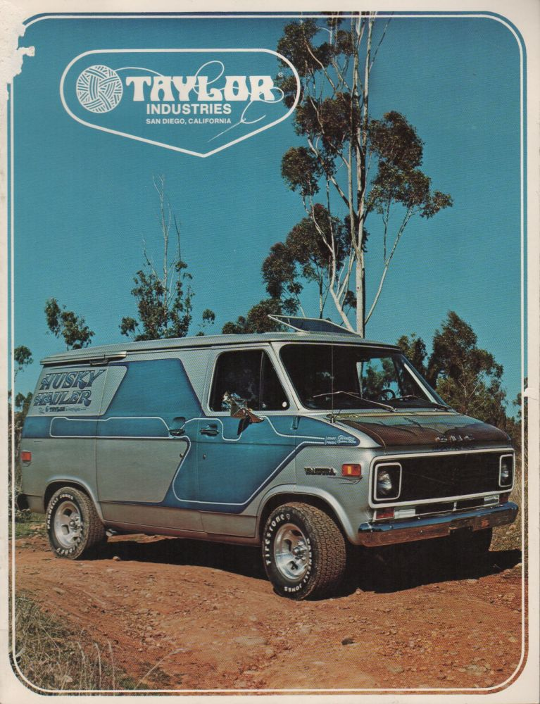 TAYLOR INDUSTRIES [Custom Van Parts Catalogue]. Custom Cars, Vans, 1970s.