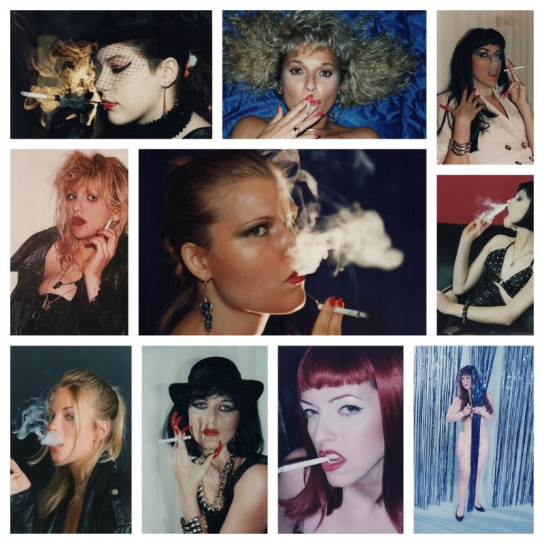 [Photo Albums of Women Smoking]. Photography, Fetish.