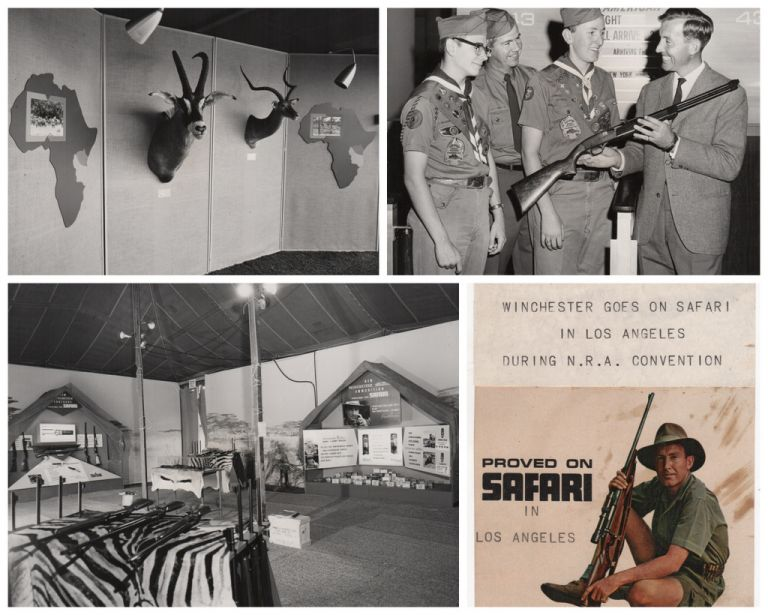 """[Winchester Rifle 1964 N.R.A. Convention Scrapbook: """"Proved on Safari""""]. Guns, NRA."""