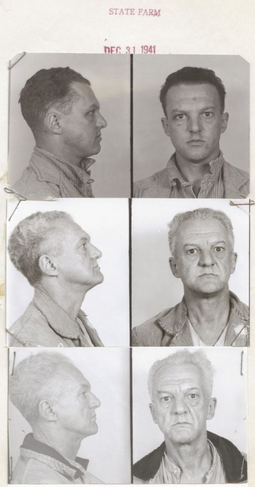 [Archive of Parole Documents, Mug Shots of Defective Delinquent Prisoners]. Prison, Mental Illness.