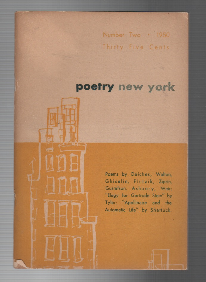 POETRY NEW YORK / A MAGAZINE OF VERSE AND CRITICISM: 1950 NO. 2. Keith BOTSFORD, John Ashbery.