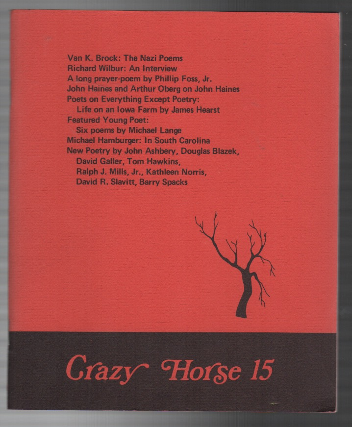 CRAZY HORSE 15: Fall 1974. Philip DACEY.