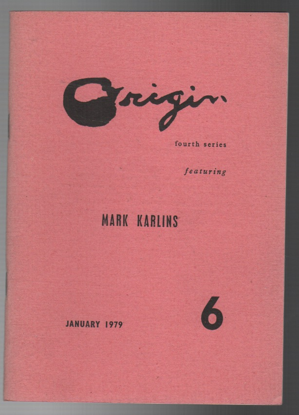ORIGIN 6: January 1979. Cid CORMAN, Mark Karlins.