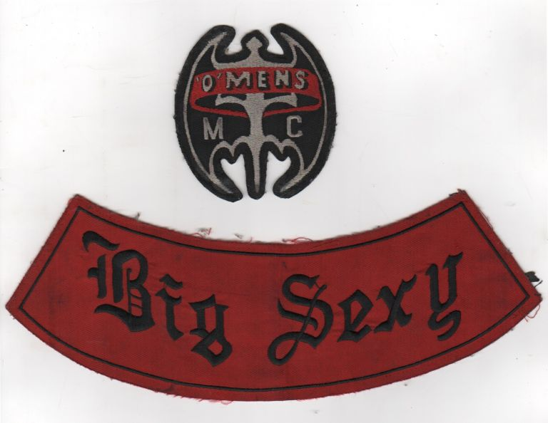['O'Mens Motorcycle Club Patches]. African-Americana, Motorcycles.