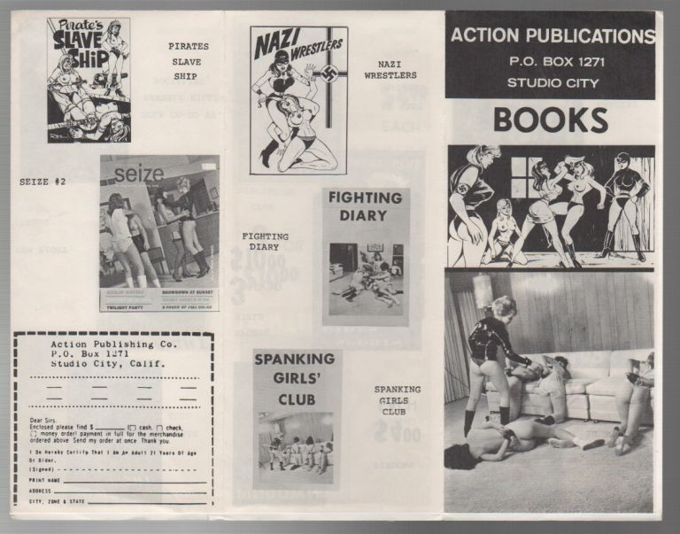 ACTION PUBLICATIONS BOOKS [Catalog of Erotic Literature]. Action Publications.