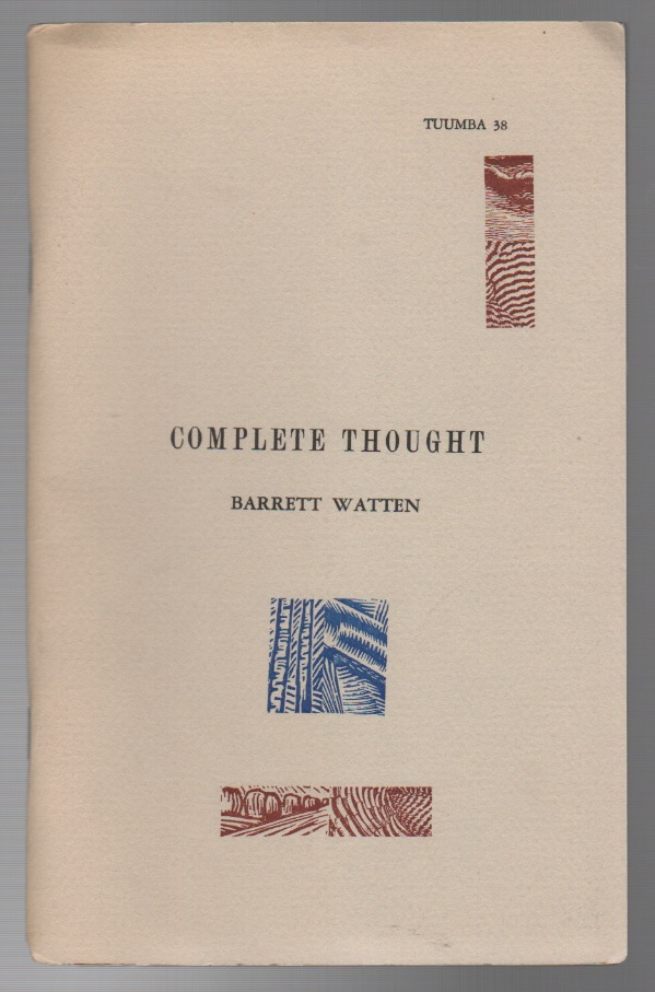 COMPLETE THOUGHT. Barrett WATTEN.