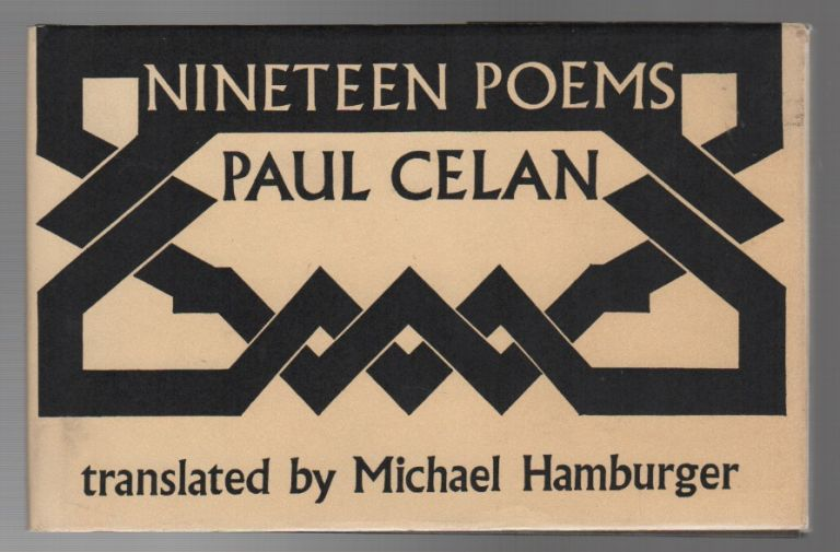 Nineteen Poems By Paul Celan On Brian Cassidy Bookseller