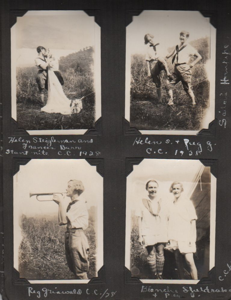[Girl Scout Camp Photo Album 1926-1929]. Scouting, Girls.