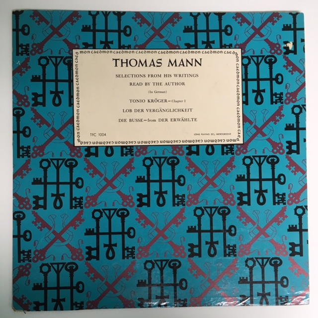 THOMAS MANN: Selections From His Writings Read By The Author (In German). Thomas MANN.