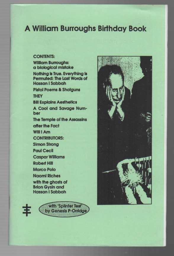 A WILLIAM BURROUGHS BIRTHDAY BOOK. William Burroughs, Paul CECIL.