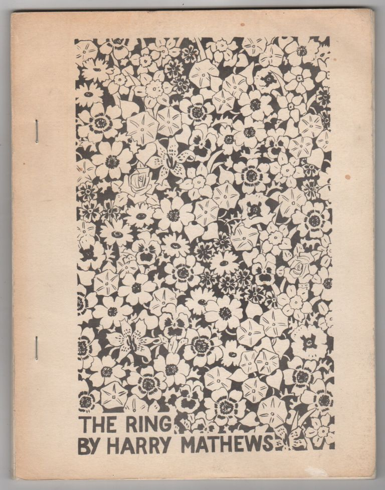 THE RING: Poems 1956-69. Harry MATHEWS.