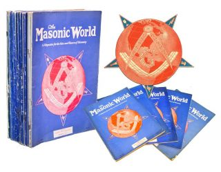 THE MASONIC WORLD: A Magazine for the Men and Women of Masonry [20 Issues]. Gen. Mng John E....
