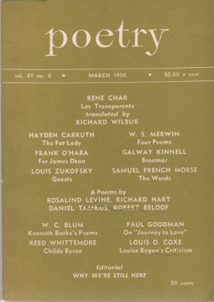 POETRY - Vol. 87, No. 6 - March 1956