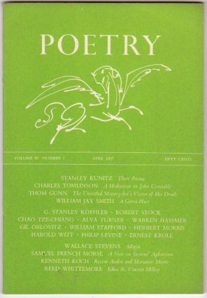 POETRY: Vol. 90 No 1 - April 1957