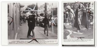 TWO ORIGINAL WIRE-SERVICE PHOTOS OF HIPPIES IN THE HAIGHT