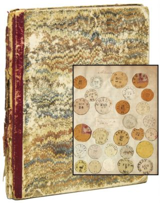 Scrapbook of Mounted Postmarks ca. 1866 Through the 1890s