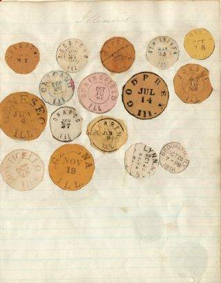 [Scrapbook of Mounted Postmarks ca. 1866 Through the 1890s]