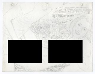 Archive of Traced and Collaged Pornographic Pencil Sketches and Drawings Detailing One Man's...