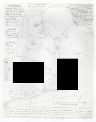 [Archive of Traced and Collaged Pornographic Pencil Sketches and Drawings Detailing One Man's Sexual History and Fantasies]
