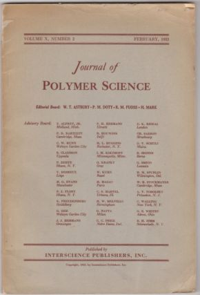 JOURNAL OF POLYMER SCIENCE - Vol. X, No. 2 (February, 1953)