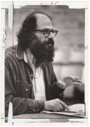 Original 1969 Press Photo of Allen Ginsberg