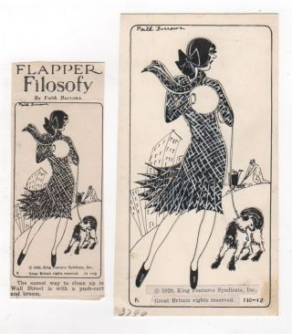 [Eleven Original Drawings for Syndicated Comic FLAPPER FILOSOFY, 1929-1931]