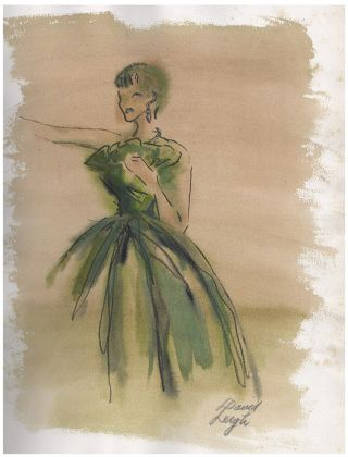 [Archive of Drawings, Watercolors, and Pastels of Women's Fashion]