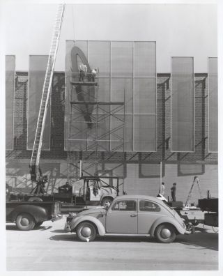 [Photo Album Documenting Construction of Plaza Movie Theater]