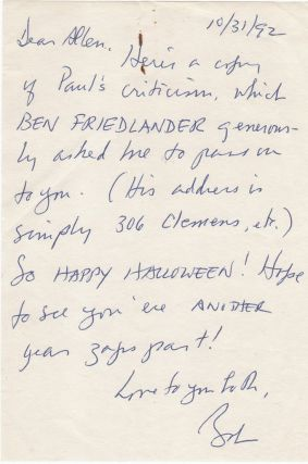 [Two Autograph Notes Signed to Allen De Loach With Related Ephemera]