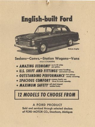 [U.S. Sales and Marketing book for English Ford]