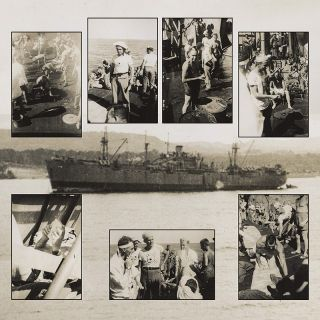 Collection of 9 Neptune Crawl Photographs]. WWII, Navy