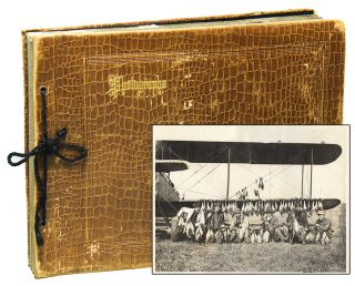 Original Scrapbook and Photograph Album an Army Air Corp Pilot]. Colonel Robert Theodore CRONAU