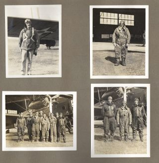 [Original Scrapbook and Photograph Album an Army Air Corp Pilot]