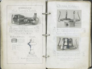 [Manuscript Photo Catalogue of Light Fixture Manufacturer]