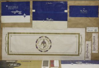 [Large Scrapbook Archive of Undergarment Packaging Samples from Consolidated Lithographing Corporation]