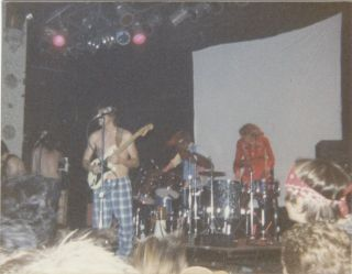 [Nine Original Vintage Photographs of an Early Butthole Surfers Performance]