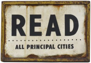 "READ: All Principal Cities [Original Artwork]. "" a. k. a. ""Read More"" etc ""THE READER"