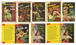 Lot of 8 Popular Library Pulp Novel Cover Proofs]. Pulp, Rudolph BELARSKI