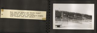 [Original Photograh Album of the Sinking of the Golden Eagle Steamboat]