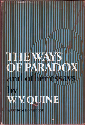 THE WAYS OF THE PARADOX and Other Essays