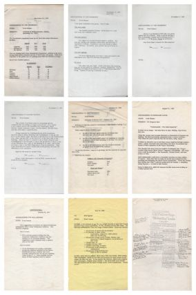 Archive of White House Memoranda and Other Documents from LBJ Pollster Fred Panzer]. Presidents,...