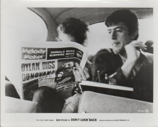 "PRESS PHOTOGRAPH FROM THE FILM ""DON'T LOOK BACK]. BOB DYLAN, Daniel KRAMER, Photographer"
