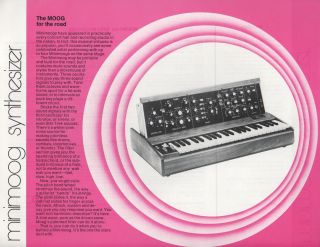 Handbill Advertisement for Minimoog Synthesizer]. Electronic Music