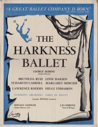 Original Poster for the Harkness Ballet]. Dance, Ballet