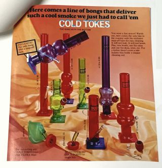 COLD TOKES [Cover Title] [Advertising Material for a line of Water Pipes