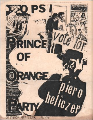 Flyer Sent to Ira Cohen from Piero Heliczer