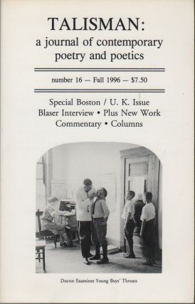 TALISMAN: A Journal of Contemporary Poetry and Poetics - Number 16, Fall 1996