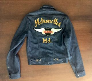 Original 1970s Woman's Biker Club Denim Jacket