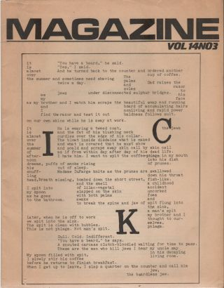 MAGAZINE Summer/Fall 1984-Volume 12, Number 3 [Beyond Baroque