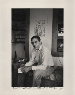 """Robert Creeley, Maine August 1983 his house."" [Caption Title, Original Photograph"